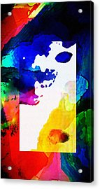 Rectangle Merge Abstract By Delynn Sold Acrylic Print by Delynn Addams