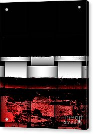 Abstract Red And Black Ll Acrylic Print by Marsha Heiken