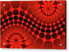 Abstract Red And Black Ornament Acrylic Print