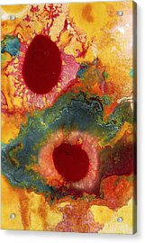 Abstract Red Flower Garden Vertical Acrylic Print