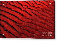 Abstract Red Sand- 2 Acrylic Print