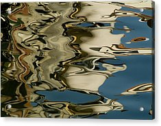 Abstract Reflections Formed By Rippling Acrylic Print by Todd Gipstein