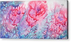 Abstract Roses Acrylic Print