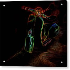 Abstract Scooter Acrylic Print by Elijah Knight