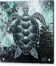 Abstract Sea Turtle Acrylic Print