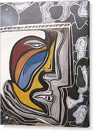 Abstract Self Portrait 1988 Acrylic Print by Jimmy King