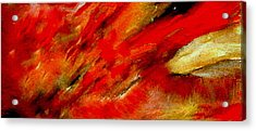 Acrylic Print featuring the painting Abstract-simple Red 3 by Sherri  Of Palm Springs