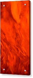 Acrylic Print featuring the painting Abstract-simply Red by Sherri  Of Palm Springs