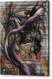 Abstract Sketch 1334 Acrylic Print by Rafael Salazar