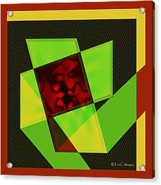 Acrylic Print featuring the digital art Abstract Squares And Angles by Kae Cheatham