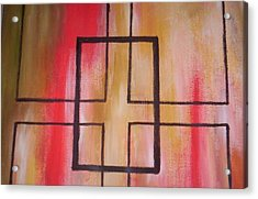 Abstract Squares Acrylic Print by Becca Haney