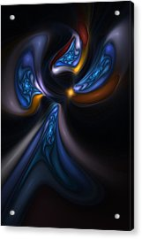 Abstract Stained Glass Angel Acrylic Print by David Lane