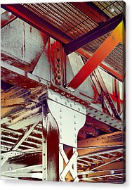 Acrylic Print featuring the photograph Grunge Steel Beam by Robert G Kernodle