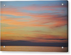 Abstract Sunset By Nature Acrylic Print by Rose  Hill