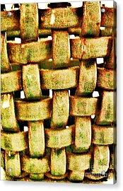 Abstract Texture Acrylic Print by Marsha Heiken