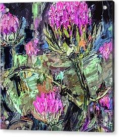 Abstract Thistles Modern Botanical Art Acrylic Print