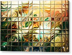 Abstract-through Glass Acrylic Print by Patricia Motley