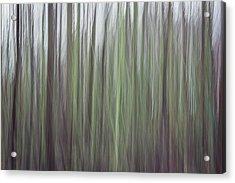 Streaks Of Green Acrylic Print