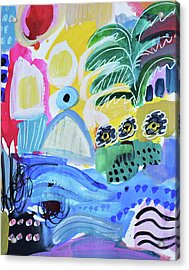 Abstract Tropical Landscape Acrylic Print by Amara Dacer