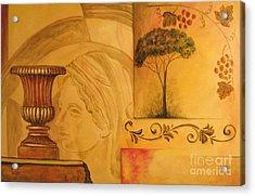 Abstract Tuscany Garden Acrylic Print