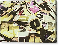 Abstract Typescript Acrylic Print