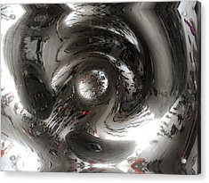 Abstract Underbelly Of The Bean, Chicago Il Acrylic Print