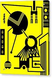 Abstract Urban 02 Acrylic Print by Dar Geloni