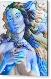 Acrylic Print featuring the painting Abstract Venus Birth 4 by J- J- Espinoza