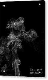 Abstract Vertical Monochrome White Mood Colored Smoke Wall Art 04 Acrylic Print