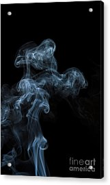 Abstract Vertical White Mood Colored Smoke Wall Art 04 Acrylic Print