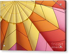 Abstract View Of Hot Air Balloon Acrylic Print by Juli Scalzi