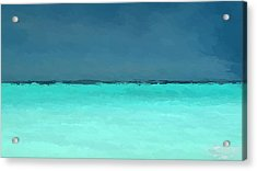 Abstract Water And Sky Acrylic Print