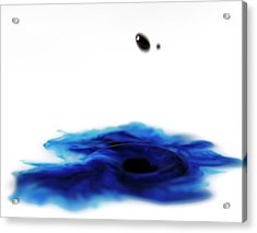 Acrylic Print featuring the photograph Abstract Water And Waterdrop by Rico Besserdich