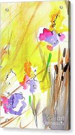 Abstract Watercolor Summer Splender Acrylic Print
