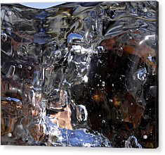 Acrylic Print featuring the photograph Abstract Waterfall by Sami Tiainen