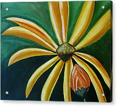 Abstract Yellow Sunflower Art Floral Painting Acrylic Print