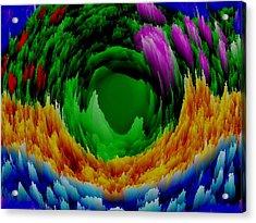 Abstract. Wind. Flowers. Dizziness Acrylic Print by Dr Loifer Vladimir