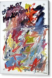 Abstract With Black Date Acrylic Print by Michael Henderson