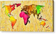 Abstract World Map 15 - Da Acrylic Print