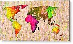 Abstract World Map Colorful 56 - Pa Acrylic Print