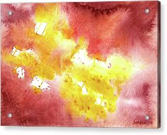 Abstract Yellow Connectors Acrylic Print by Sean Seal