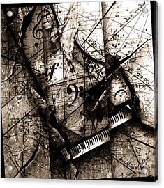 Abstracta 27 The Grand Illusion  Acrylic Print by Gary Bodnar