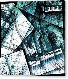 Abstracta 28 Emerald Cadenza Acrylic Print by Gary Bodnar