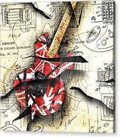Abstracta 35 Eddie's Guitar Acrylic Print by Gary Bodnar
