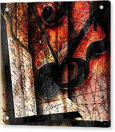 Abstracta_02 Symbolz II Acrylic Print by Gary Bodnar