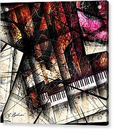 Abstracta_18 Opus I B Acrylic Print by Gary Bodnar