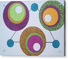 Acrylic Print featuring the drawing Abstracted Circles by Beth Akerman