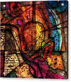Abstracta_08 Symphony Acrylic Print by Gary Bodnar