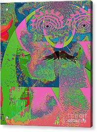 Abstraction Of A New World Acrylic Print by Fania Simon