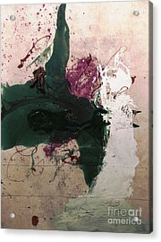 Abstraction White Red Green  Acrylic Print